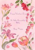 Add A Name Valentine-Pink Floral